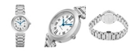 Stuhrling Alexander Watch AD203B-01, Ladies Quartz Date Watch with Stainless Steel Case on Stainless Steel Bracelet